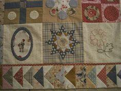 Stonefields quilt van Susan Smith aangepaste versie van Elisabeth van Elisabeth's quilts - http://elisabethsquilts.blogspot.nl/