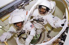 Feb. 9 1995 Bernard Harris and Michael Foale Ready For a Spacewalk via NASA http://ift.tt/20TmLnI
