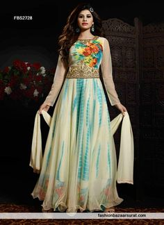 Glamorous Georgette Multicolor Anarkali Suit