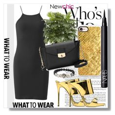 """NewChic !"" by dianagrigoryan ❤ liked on Polyvore featuring Casetify, Nearly Natural, Giuseppe Zanotti, NARS Cosmetics and LBD"