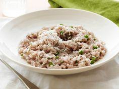 Red Wine Risotto with Peas from FoodNetwork.com