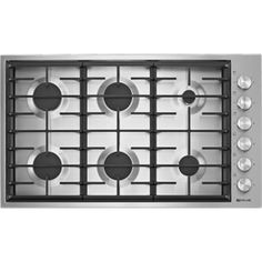 Buy the Jenn-Air Stainless Steel Direct. Shop for the Jenn-Air Stainless Steel 36 Inch Wide 6 Burner Gas Cooktop and save. Jenn Air Range, How To Install Countertops, Kb Homes, Single Wall Oven, Electric Cooktop, Built In Ovens, Heating Element, Flat Design, Arredamento