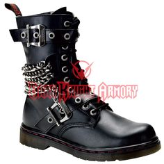 Gothic Calf Boots with Chains - FW2040 from Dark Knight Armoury