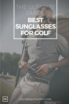 Are you looking for the Best Sunglasses for Golf? Check out our in depth buyers guide to find the best pair of sunglasses for you. Golf Accessories, Golf Fashion, Play Golf, Golf Tips, Improve Yourself, Sunglasses, Buyers Guide, Sports, Check