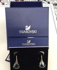 Swarovski Crystal Tear Drop Pierced Earrings New In Box - Original Tags - SALE | eBay