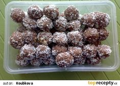 Nepečené tatrankové kuličky recept - TopRecepty.cz Sweet Tooth, Cereal, Almond, Cookies, Breakfast, Food, Balls, Crack Crackers, Morning Coffee