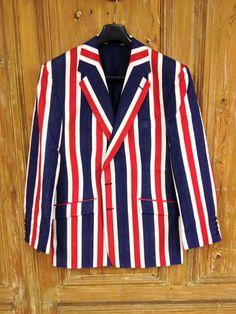 Stunning bespoke striped boating / cricket blazer we made for someone in Australia