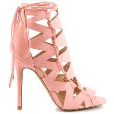 7c7e28f91c18b5 Qupid - Grace - Rose Pink Suede PU