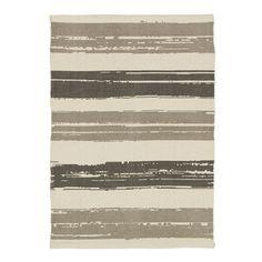 Summer Stripe Printed Cotton Rug - Platinum | west elm Bathroom?