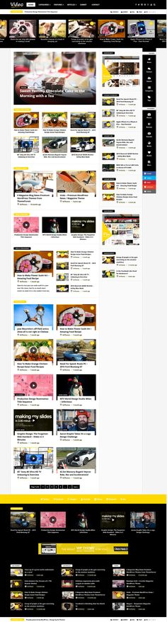Video News - WordPress Magazine / Newspaper Theme #website #webdesign Download: http://themeforest.net/item/video-news-wordpress-magazine-newspaper-theme/12492346?ref=ksioks