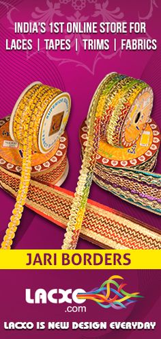 Chenille Jari Border | Get Chenille jari Lace to provide Richer look to your garments | http://www.lacxo.com/lace/chenille-lace.html