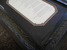 Poem framed with specially designed mat corners on CMC mat cutter. Custom framing by Centerville Framing and Gifts.