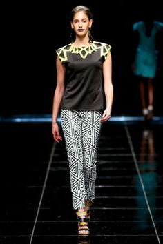 ELLE's fashion team, Poppy Evans, Tarryn Oppel and Nicole Newman share their highlights from Africa Fashion. South African Fashion, Africa Fashion, Highlights, Capri Pants, Runway, Women, Style, African Fashion, Cat Walk