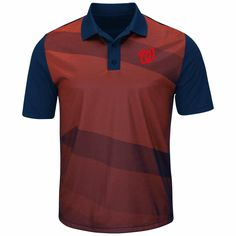 purchase cheap 51d4d 5d2c2 MLB Washington Nationals Majestic Late Night Prize Polo - Red Navy