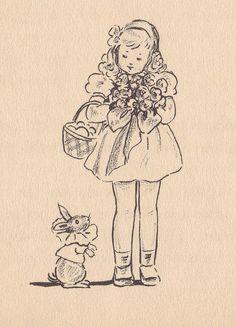 "Easter posy- ""Scamper"" illustrated by Marjorie Flack (1934)"