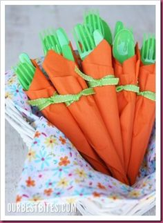 Cute napkin idea for Easter!!