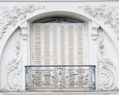 White shutters and balcony