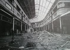 Wholesale fruit and veg market, Halford Street, Leicester, just before demolition. Built demolished As was much else. Fruit And Veg Market, Leicester, Opera House, Louvre, England, History, World, Street, Building