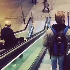 I'm going to beat you down the escalator! (takes a bit of time to load)