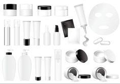 blank cosmetic packaging vector