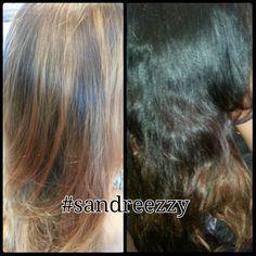 Ombre and highlights #sandreezzy #hairninja #salon2324