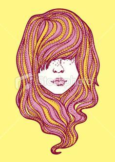 Stylin' #hair. Illustration by: _susan_lee_/iStockphoto  http://istockpho.to/VtXoJr