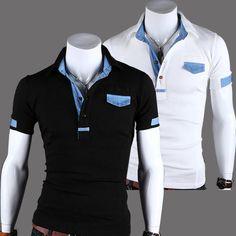 Sale 30% (19.73$) - Men\'s Fashion Cowboys Color Matching Short POLO T-Shirt