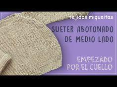 Cómo tejer una chaqueta abotonada de medio lado (subtitles available) - YouTube