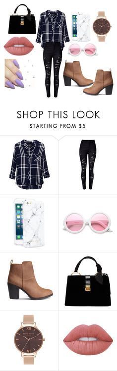 """Casual"" by officialajaxxx ❤ liked on Polyvore featuring Rails, WithChic, Happy Plugs, ZeroUV, Miu Miu, Olivia Burton and Lime Crime"