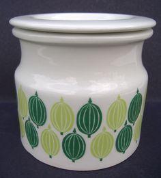Arabia Finland gooseberry pot