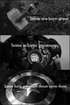Thor. Iron Man. Captain America.
