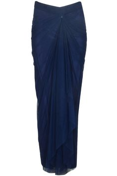 Navy blue vintage tulle saree skirt available only at Pernia& Pop Up Shop. Indian Designer Outfits, Indian Outfits, Designer Dresses, Designer Clothing, Skirt Fashion, Hijab Fashion, Fashion Dresses, Traditional Skirts, Model Kebaya