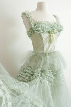 1950's Ruffle Prom / French Net by Amanda Deare