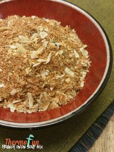 Creating your own french onion soup mix with the thermomix is easy and putting them in a seal proof jar for using whenever a recipe calls for it. Making thermomix