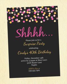 Free Printable Surprise Birthday Invitations