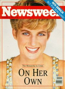 1992 Newsweek Magazine: Princess Diana On Her Own - Monarchy in Crisis