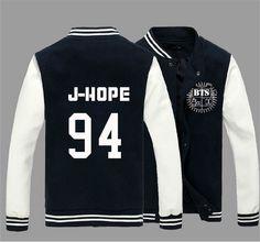 KPOP BTS Bangtan Boys Jung Kook J-hope JIN Jimin V Suga Cotton Sweatshirts Outerwears unisex Baseball Coat Jacket