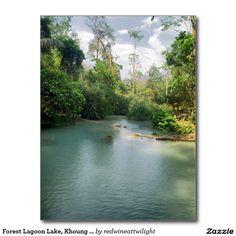 Forest Lagoon Lake, Khoung Si Falls, Laos Postcard