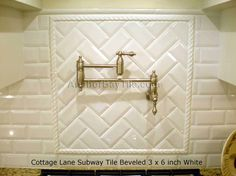 Pics of Herringbone pattern shower with mosaic insert | Tile layout designs are either of multiple types or specific patterns ... Backsplash Herringbone, Subway Tile Backsplash, Herringbone Pattern, Kitchen Backsplash, Backsplash Ideas, Tile Ideas, Kitchen Cabinets, Kitchen Tiles Design, Kitchen Wall Colors