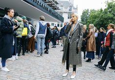 Caroline Daur in Calvin Klein (raf) London Fashion Week Spring 18