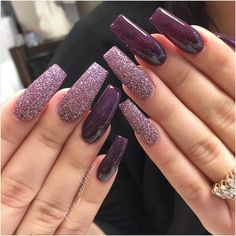 We all want beautiful but trendy nails, right? Here's a look at some beautiful nude nail art. Gorgeous Nails, Love Nails, Pretty Nails, My Nails, Fall Nails, Nail Art Designs, Purple Nail Designs, Coffin Nails 2018, Uñas Fashion