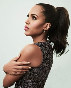 """accras: """" Kerry Washington poses in the Getty Images Portrait Studio at the 2017 Winter TCA press tour. Nia Long, Straight Ponytail, Act Like A Lady, Olivia Pope, Kerry Washington, Kate Hudson, Black Is Beautiful, Beautiful Women, Celebs"""
