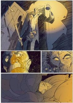 Página de 'Moby Dick'. Desenho de Pierre Alary