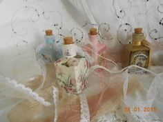 small  bottles, 250  ml  6,6x6,5x13   personal  orders  for  wedding  and  baptism boboniera