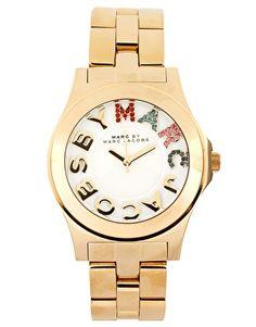 Marc By Marc Jacobs   Reloj de pulsera de oro con esfera multicolor de Marc By Marc Jacobs en ASOS