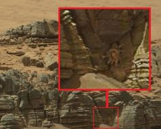 Crab-like alien 'facehugger' is seen crawling out of a cave on Mars