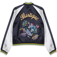 HILFIGER COLLECTION Bomber Mustique Souvenir // Embroidered bomber... ($885) ❤ liked on Polyvore featuring outerwear, jackets, multi color jacket, flight bomber jacket, raglan jacket, slim fit bomber jacket and slim bomber jacket