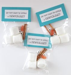 Do You Want to Build a Snowman-FREE Printable Party Favor