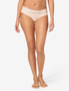 Womens Second Skin Lace Waist Brief – Tommy John