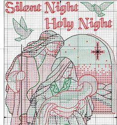 Silent Night Sampler 2 of 8 Cross Stitch For Kids, Cross Stitch Alphabet, Modern Cross Stitch, Cross Stitch Designs, Cross Stitch Patterns, Cross Stitch Christmas Stockings, Christmas Stocking Pattern, Christmas Cross, Cross Stitching